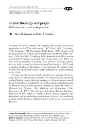 pdf islamic theology and prayer relevance for social work practice