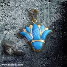 18k gold lotus flower pendant filled