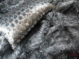 grey sst faux fur designer 180 cm x 250