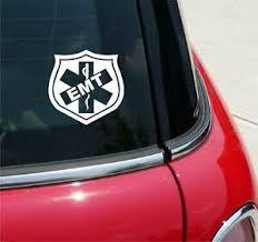 Emt Shield Paramedic Star Of Life Graphic Decal Sticker Car Wall Art Decor Ebay