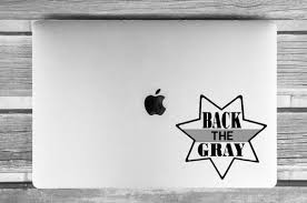 Back The Gray Decal Corrections Decal Correction Officer Etsy Computer Decal Window Decals Correctional Officer