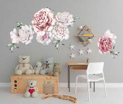 Amazon Com Peony Wall Decals Large Flower Wall Decals Flower Wall Decals 3d Large Flower Wall Decor Vintage Floral Wall Stickers Nursery Wall Art Decals Cik2435 Handmade