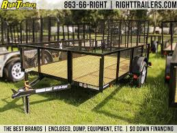 6x10 Red Hot Trailer Utility Trailer Right Trailers New And Used Cargo Flatbed And Dump Trailers For Sale In Lakeland Tampa Florida
