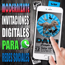 Invitacion Digital 240 Cumpleanos Jurassic World 99 99