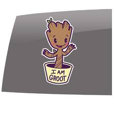 Baby Groot Color I Am Groot Guardians Inspired Entertainment 5 Year Outdoor Vinyl Sticker Decal Slomo Swag Apparel Stickers And More