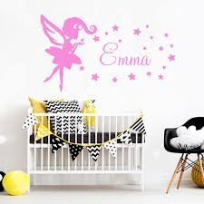 Personalized Name Fairy Angel Wall Art Decal Decoration Fashion Sticker Vinyl Stickers Art Decals Stickers Muraux Aliexpress Com Imall Com