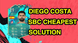 FIFA 20 FLASHBACK DIEGO COSTA CHEAPEST SOLUTION | FIFA 20 SBC CHEAP | FIFA  20 ULTIMATE TEAM - YouTube