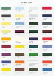 classic car hub triumph paint colours