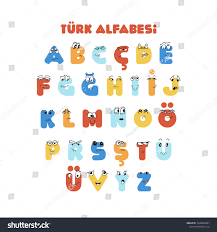 Turkish Colorful Alphabet Kids Education Cute Stock Vector Royalty Free 1640684947