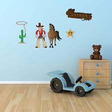 Cowboy Wall Sticker Wall Decal Set Style And Apply