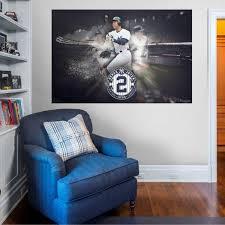 Fathead New York Yankees Derek Jeter The Captain Mural Wall Decal Dick S Sporting Goods
