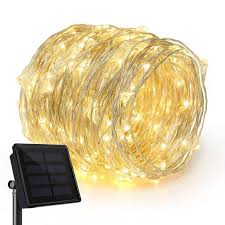 solar copper wire fairy lights
