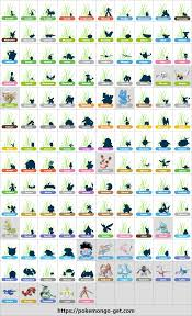 Gen3 Silhouette Reference Chart : TheSilphRoad
