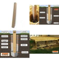 4 In X 6 In X 60 In In Ground Fence Post Decay Protection For Sale Online