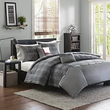 full queen size grey plaid 5