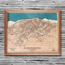 killington mounn 3d ski trail map