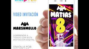 Video Invitacion Marshmello Youtube