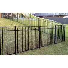 Jerith Adams 4 5 Ft X 6 Ft Aluminum Black Fence Section Rs54b200sn The Home Depot Black Fence Fence Sections Backyard Fences