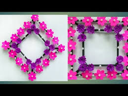 diy paper flower wall hanging simple