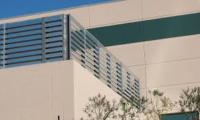 Mechanical Equipment Yard Noise Barrier Wall And Acoustic Louvers