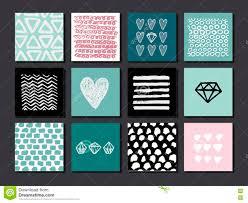 Sistema De 12 Tarjetas Creativas Del Arte Texturas Dibujadas Mano
