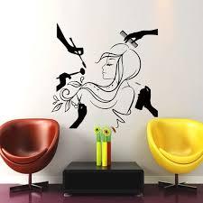 Wall Decal Beauty Salon Hair Salon Fashion Girl Woman Haircut Hairdressing Barbershop Co Decoracion De Esteticas Decoracion De Salon De Belleza Sala De Belleza