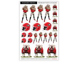 Uga Georgia Bulldogs 23 Count Sticker Sheet The Red Zone Athens Ga