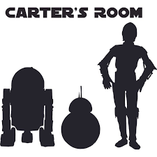 Star Wars Robot Clone Cartoon Character Design Customized Wall Art Vinyl Decal Custom Vinyl Wall Art