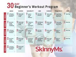 30 day beginner s workout calendar