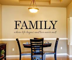 family where life begins and love never ends family quotes wall