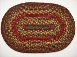 braided jute place mat painted