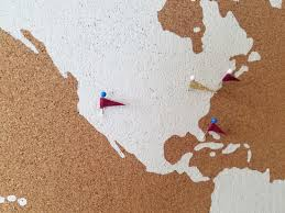 How To Stencil A Cork Board Using The World Map Pattern Stencil Stories