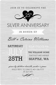 25th wedding anniversary invitations 25