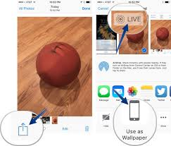 set and use live wallpapers on iphone 6s