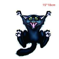 Halloween Car Wall Home Black Cat Sticker Mural Decor Decal Removable Terror New Car Styling Halloween Black Cat Car Decals Aliexpress Com Imall Com