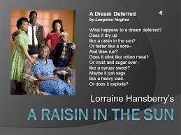 a raisin in the sun lorraine hansberry s a dream deferred ppt