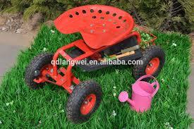 seat tool tray garden stool on wheels
