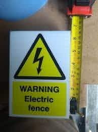 Electric Fence Warning Signs For Sale In Tralee Kerry From Robotack