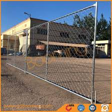 China Galvanized Chain Link Temporary Fence With Post And Base Bottom China Safety Fence Wire Fence