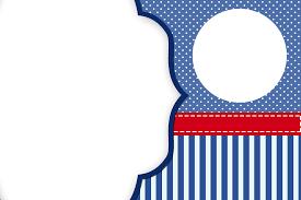 Rayas Azules Y Puntos Blancos Invitaciones Para Imprimir Gratis