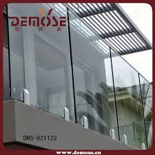 glass safety balcony railing design