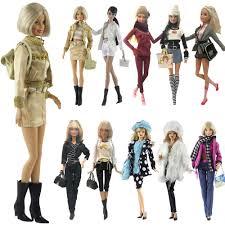NK Một Bộ Búp Bê Thời Trang Đồng Phục Thoáng Mát Mùa Đông Quần Áo Siêu Mẫu  Áo Cho Búp Bê Barbie Phụ Kiện Bé Gái Tặng Đồ Chơi a1 JJ|