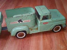 Farm Decals For Trucks Old Tonka Farm Truck And Matching Car Carrier Steel Sea Green 1960 Vintage Toys Tonka Truck Toy Trucks