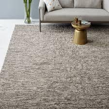 looped texture wool rug natural