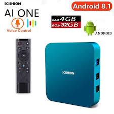 Magicsee N5 NOVA TV Box 2GB 16GB Android 9.0 Rockchip RK3318 Quad-core  64bit Dual WiFi 2.4G/5G BT4.0 4K UHD Streaming Mini Box with 2.4g Air Mouse  Voice Remote
