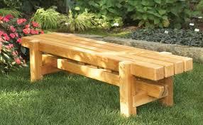 wood garden bench ideas photograph
