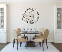 Family A Circle Of Strength And Love Vinyl Decal Wall Stickers Letters Words