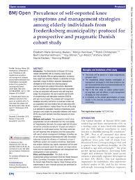 pdf prevalence of self reported knee