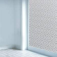 Privacy Window Film Non Adhesive Glass Window Sticker Paper Static Cling Decorative Snowflake Pattern Flower Decal Panel 17 7 X 78 7 Cas103 White Lace Flower New Walmart Com Walmart Com