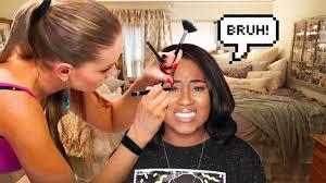 mac makeup artist super glued her eye